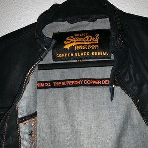 Vintage super dry copper black denim